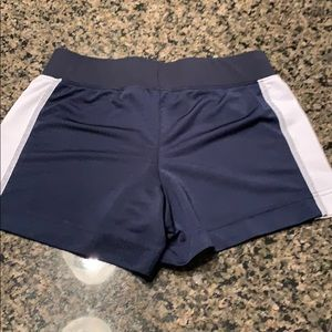 Nike Navy & white athletic shorts small 4-6